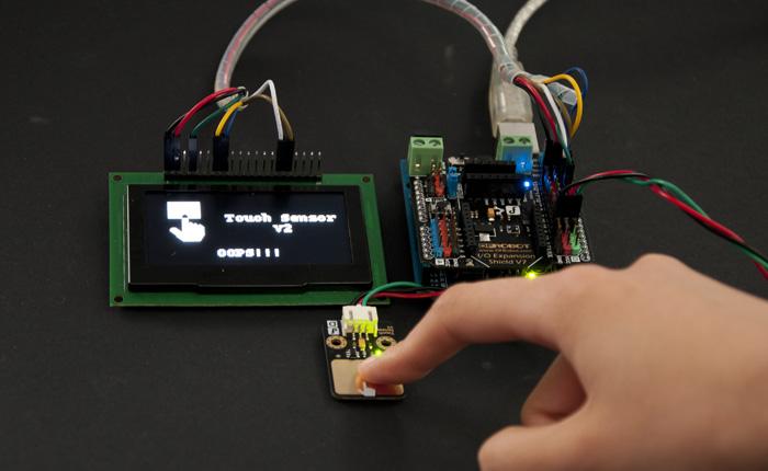 Gravity: 数字触摸开关Touch兼容Arduino