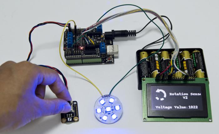 Gravity: 模拟角度传感器应用示例