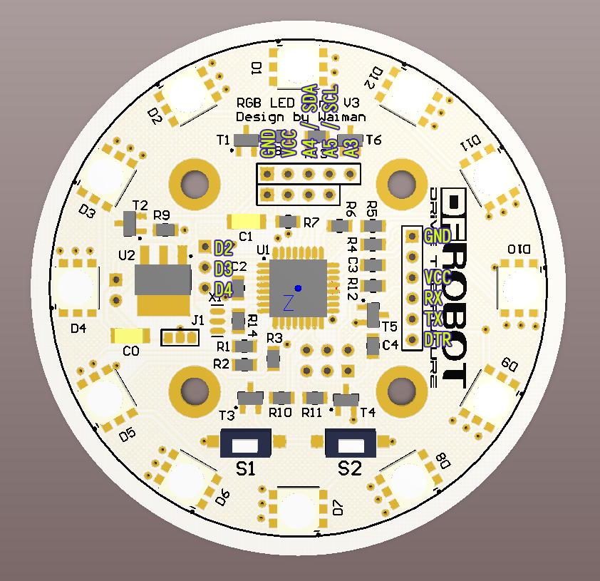 串口控制彩灯电路图