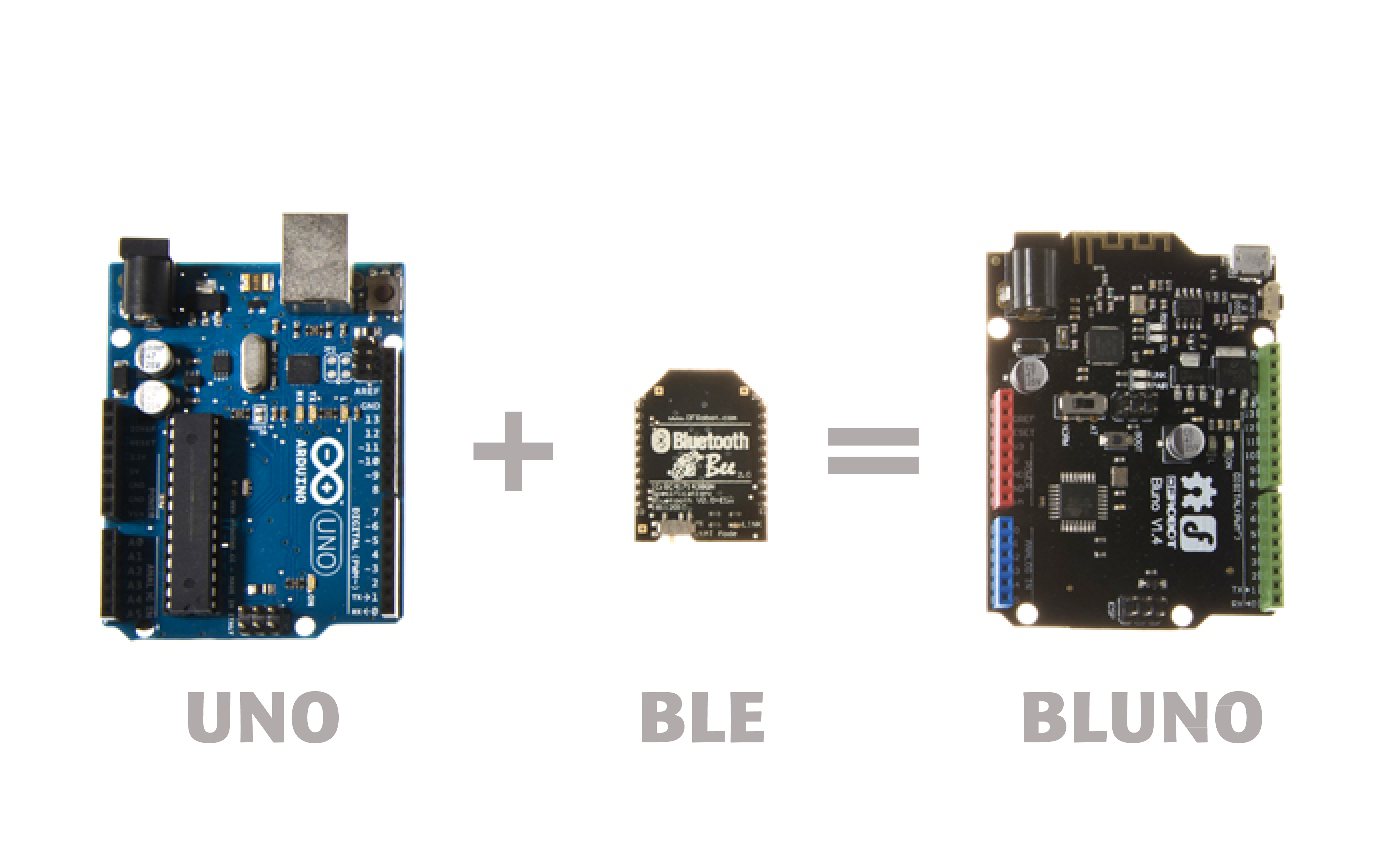 Bluno是集成蓝牙4.0的Arduino UNO控制器
