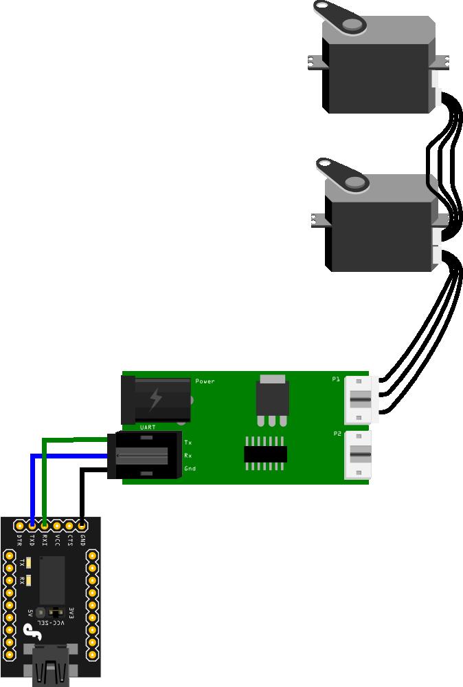 ax-12 cds55xx 数字舵机驱动板