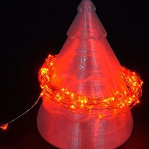 防水LED铜线灯带5米 红色