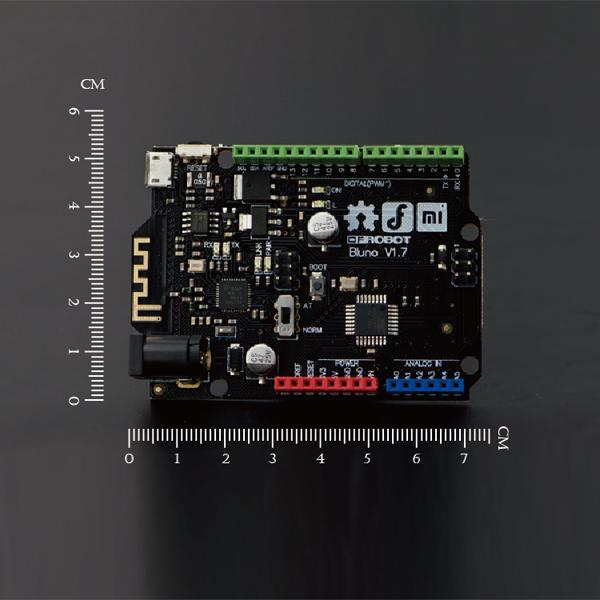 为了让用户快速应用Bluno的强大功能,DFRobot特别设计了BLUNO Accessory shield----集成多项实用功能的Arduino兼容扩展板。如上图所示,它集成了扩展板、OLED显示器、温湿度传感器、继电器、电位器、蜂鸣器和摇杆。让你快速应用手机APP中的多种功能。尽管手机APP中的功能需要用该扩展板来实现,但是用户可用以上配方自己连接一块DIY扩展板。Bluno Accessory shield可以点击此处购买。  通过手机上的控制界面,你可以控制或者沟通BLUNO扩展板的所有模块(