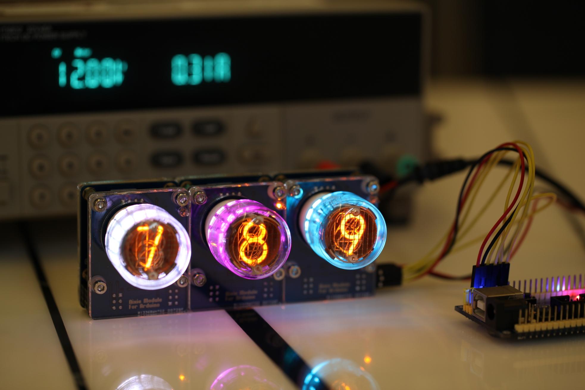 内置测试按钮,在没有任何主控驱动的情况下,可单独测试模块和辉光管